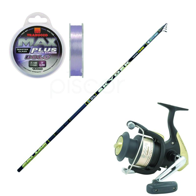 Colmic Skydek 150 - 6 m - 15 g + Complimentary Shimano Reel Hyperloop 1000 FB and a Max Plus Bolo Line 0.16 mm