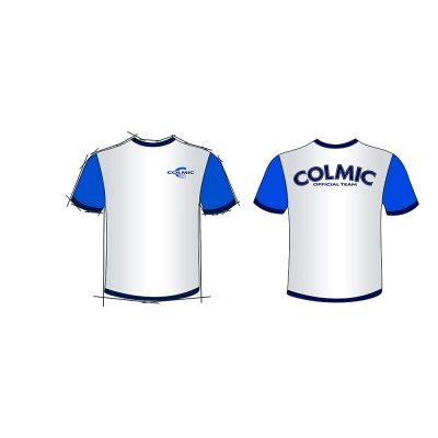Colmic T-shirt Colmic white-Blue