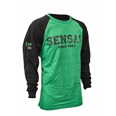Sensas T-Shirt Manica Lunga Green e Black