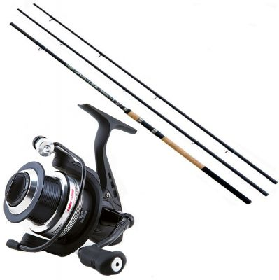 Lineaeffe Kit da Pesca Feeder Canna Ts impulse II 3.60 m 120 g + Mulinello Ts Feeder 4000