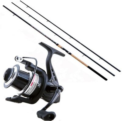 Lineaeffe Kit da Pesca Feeder Canna Ts impulse II 3.90 m 180 g + Mulinello Ts Feeder 5000