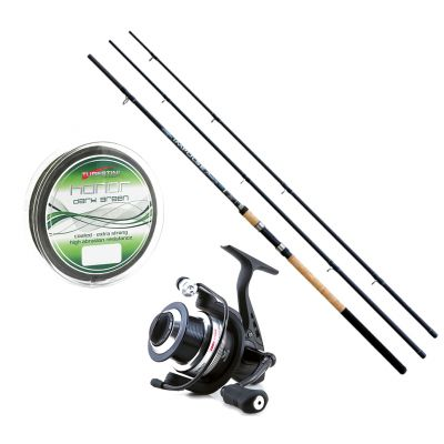 Lineaeffe Kit da Pesca Feeder Canna Ts impulse II 3.60 m 90 g + Mulinello Ts Feeder 4000 + Filo Tubertini Honor Dark Green 0.20mm 150 m