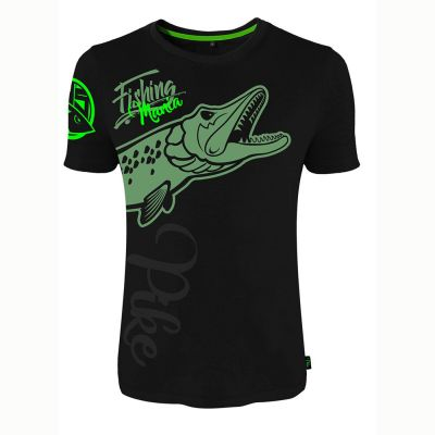 Hotspot Design T Shirt Fishing Mania Pike