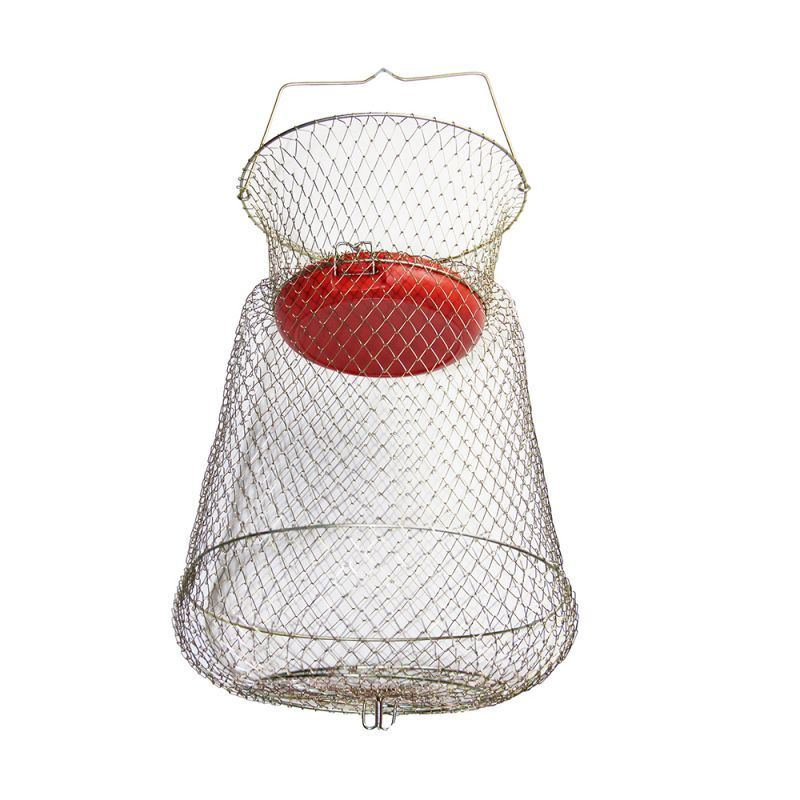 Contumax wire basket with round and floating net piscor for Floating fish basket