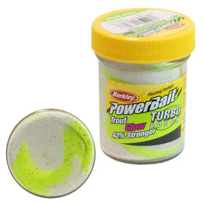 Berkley Pasta Trota PowerBait Glow in the Dark Chartreuse-White Glow