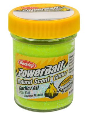 Berkley Pasta Trota PowerBait Natural Scent Garlic Sunshine Yellow