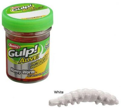 Berkley Powerbait Honey Worms - Garlic